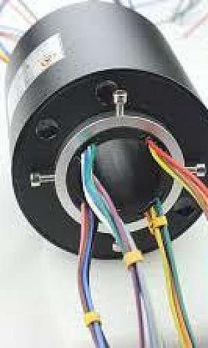 Contato elétrico giratório