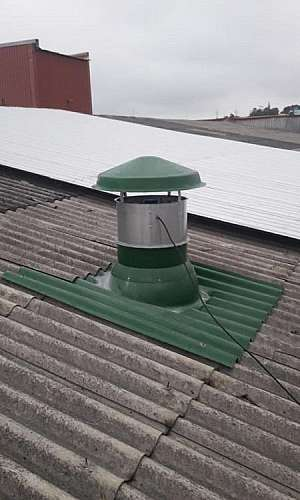 exaustor industrial de teto
