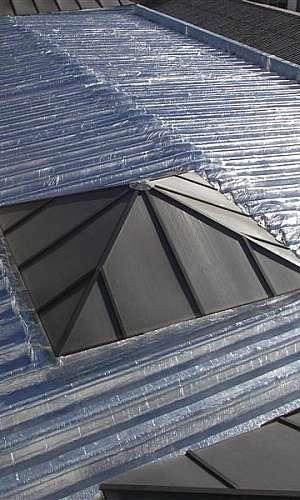 Impermeabilização de telhado de churrasqueira