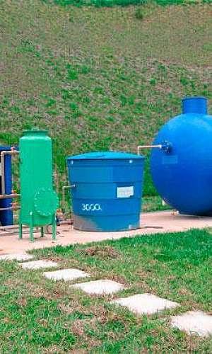 Instalação do sistema de reuso de água