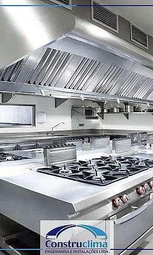 Instalação exaustão de cozinha