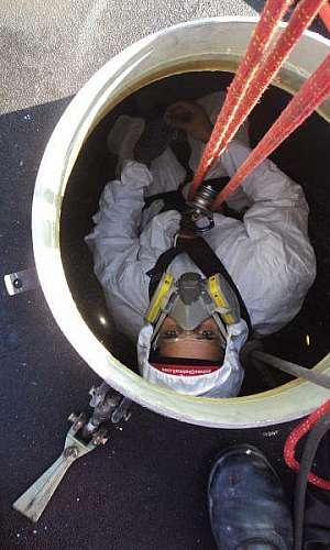 Manutenção em espaço confinado