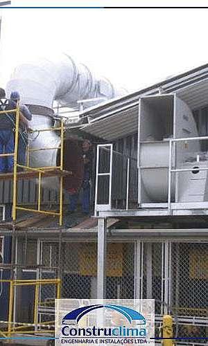 Sistema de exaustão industrial