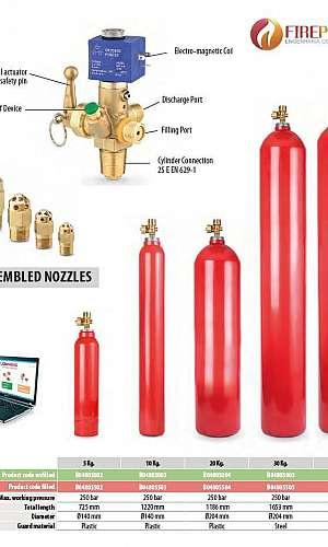Sistema fixo de gases para combate a incêndio